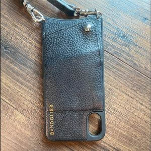Bandolier iPhone case with purse strap